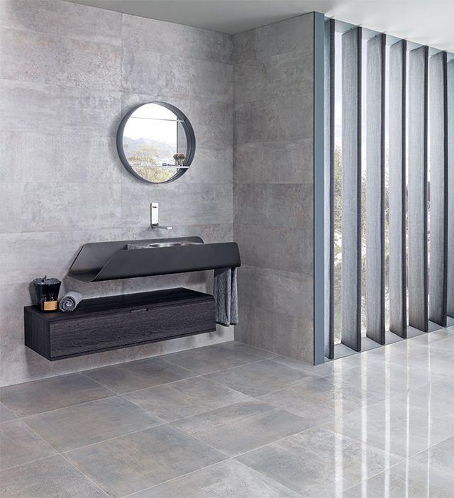 Напольная и настенная плитка, имитирующая бетонные и каменные поверхности